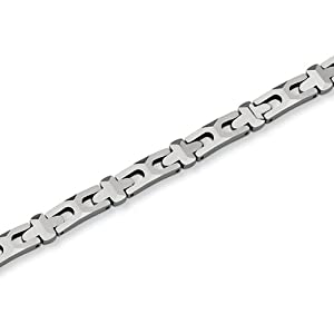 Black Bow Jewellery Company : 6mm Tungsten Crafted Polished Link Bracelet - 8.25 Inch