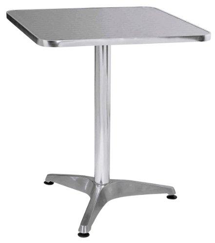 Premier-Housewares-Quadratischer-Bistrotisch-Aluminium-70-x-60-x-60-cm