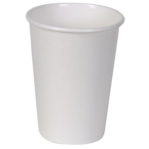 Dixie 2342W Paper Hot Cup, 12 oz, White (Case of 20 Sleeves, 50 Cups per Sleeve)