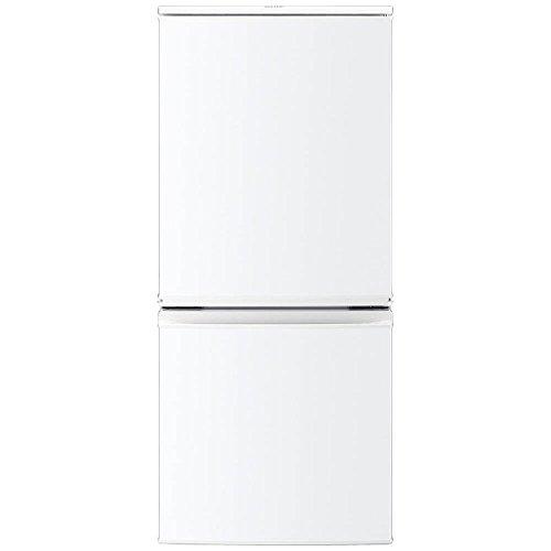 シャープ 137L 2ドア冷蔵庫(ホワイト系)SHARP つけかえどっちもドア SJ-D14B-W