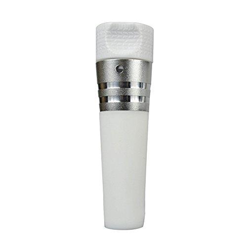 vitalite-silicone Aspirateur Pompe à air Conservateur à vin bouchon de bouteille, Silicone, blanc