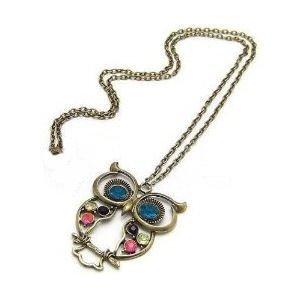 Stone River Jewellery Owl Pendant Necklace Vintage