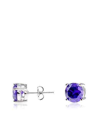 CZ by Kenneth Jay Lane 4Cttw Round Cz Ears 4Prong Luxe Post Classic, 0.3 Long Size