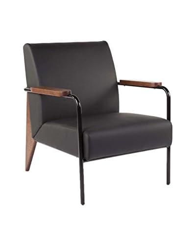 Macer Home Fauteuil De Salon Chair, Black