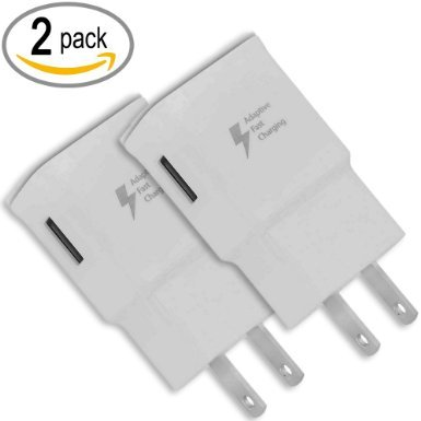 Samsung EP-TA20JWE Micro USB with Adaptive Fast Charger for Galaxy S4 S5 Note 3 Note 4 (White, 2-Pack) (Samsung Galaxy Iii Mini Battery compare prices)