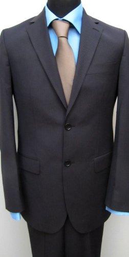 MUGA mens Suit noble, Slim-fit, Brown, Size 38R (EU 48)