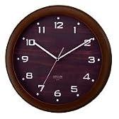 [P]carnevale(カルネヴァーレ) W-447 Sentinel(センチネル) 電波時計 掛け時計 木目調文字板 ダークブラウン