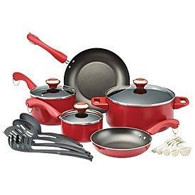 Paula Deen 17 Pc Cookware Set - Red