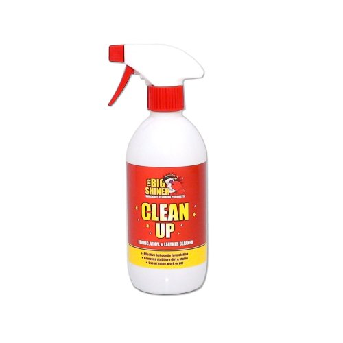 Multi Fabric & Leather Cleaner - CLEAN UP 500ML from TheBigShiner gently shampoos fabrics, leather, carpets & upholstery