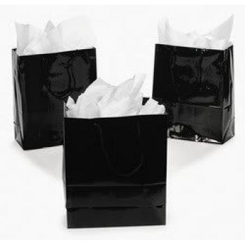 Medium Black Gift Bags (1 dozen) - Bulk [Toy]