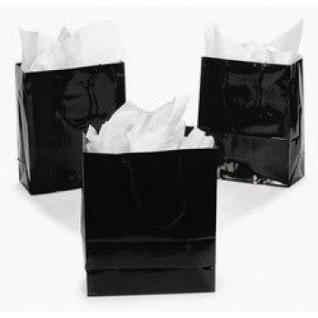 Medium Black Gift Bags (1 dozen) - Bulk [Toy]