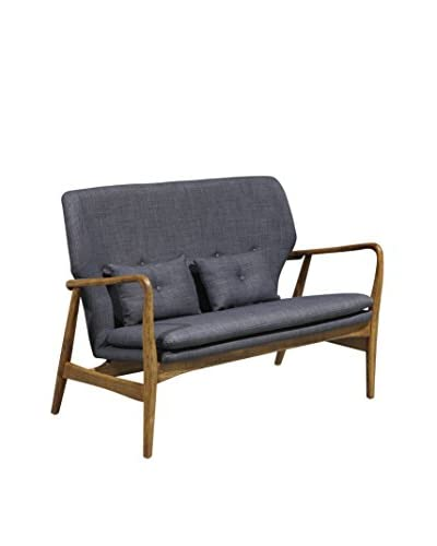 International Designs USA Madison Love Seat, Charcoal