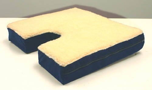 Coccyx Gel Seat Cushion With Fleece Top 16&#8243; D x 18&#8243; W x 3&#8243;