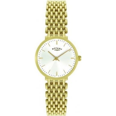 Rotary Ladies Gold Tone Watch LB00900-01