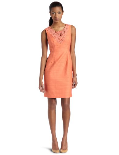 Donna Morgan Womens Sleeveless Shift Dress