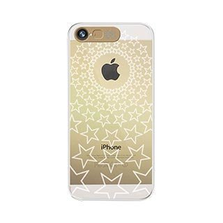 Vand Clear Flashing Case For Iphone 5S/5 - Retail Packaging - Gold Stars