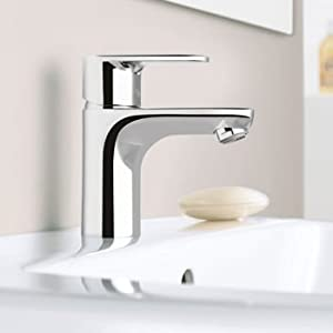 Hansgrohe Talis E Single Hole Chrome Lavatory Faucet Touch On Bathroom Sink Faucets