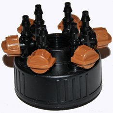 Stealth Hydroponics DiG Six Outlet Irrigation Manifold