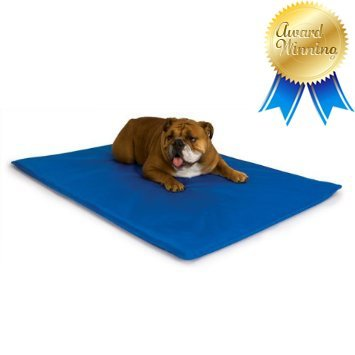 K&H Cool Bed III Cooling Dog Bed / Pad / Mat (Blue, Large - 32
