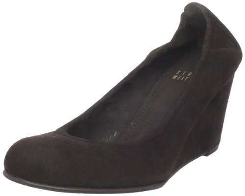 Stuart Weitzman Women's Memory Wedge Pump,Cola Suede,7 M US