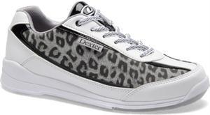 Dexter Cheeta Bowling Shoes, White/Grey/Black, 9