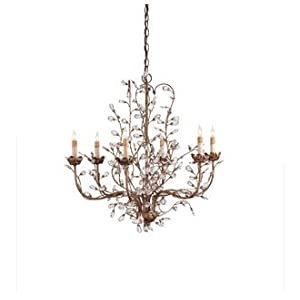 Currey and Company 9884 Crystal Bud Chandelier, Large with