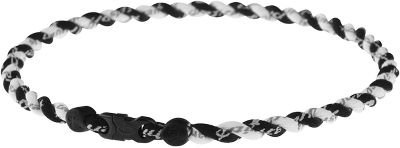 Phiten Tornado Twisted Wht/Blk Titanium Necklace - 22 - Equipment - Football - Accessories - Sports Medicine