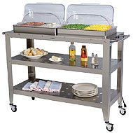 Cheap Broil King Jumbo Size Buffet Warming Cart with Rolltop Lids (B002JAN9M0)