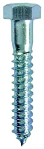 L.H. Dottie LAG143 Lag Screw, Hex Head, 1/4-Inch Diameter by 3-Inch Length, 7/16-Inch Hex, Zinc Plated, 100-Pack
