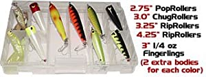 Butterfly Peacock Kit Bass Lure Assortment Top Water Bait for Peacock Snook Tarpon... by High Roller