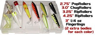 Butterfly Peacock Kit Bass Lure Assortment Top Water Bait for Peacock Snook Tarpon Red Fish Trout Saltwater Artificial Lures