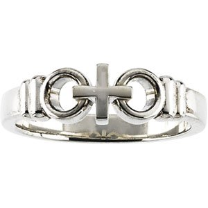 Genuine IceCarats Designer Jewelry Gift Sterling Silver Joined By Christ Ring. Joined By Christ Ring In Sterling Silver Size 8