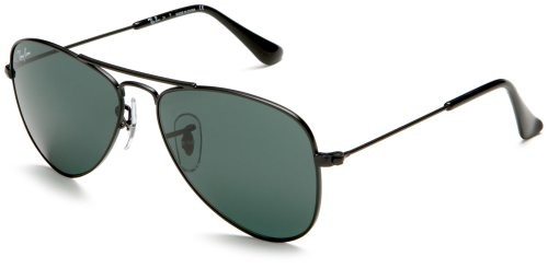 ray ban junior kids rj9506s aviator sunglassesblack frameblack lens