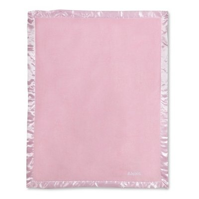 Personalized, Embroidered Lt Pink Fleece Baby Blanket front-641960