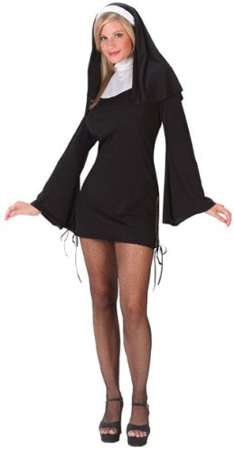 Halloween Costumes For Pregnant Women Ideas Ladies Sexy Naughty Nun Costume Sz (8-14) Best price