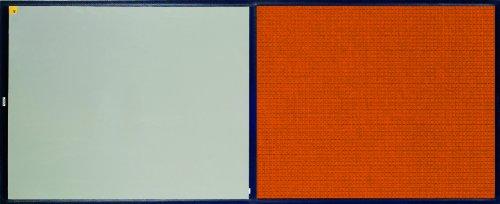 "Andersen 411 Orange Polypropylene Clean Stride Mat With Carpet, 32"" Length X 26-1/2"" Width, For Interior front-247334"