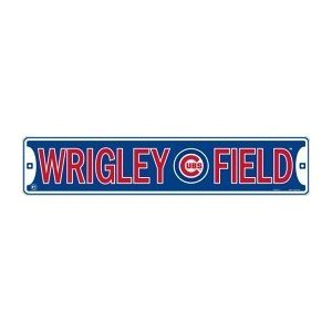 Chicago Cubs Wrigley Field Metal Street Sign (24″x5″)