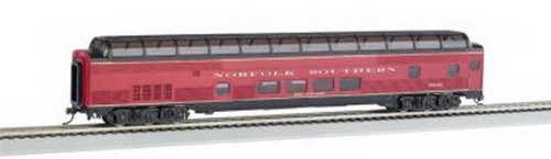 85' - Budd Full Dome - Norfolk Southern Passenger Car With Lighted Interior. Ho Scale