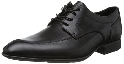 Rockport Mens Dialed In Mocfront Lace-Up Flats Black 7.5 UK (41 EU)