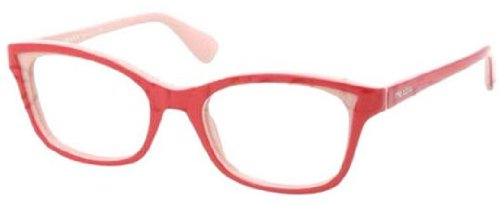 pradaPRADA PR 05PV Eyeglasses KAX1O1 Red Pink Demo Lens 52-18-140