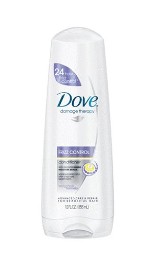 Dove Damage Therapy Frizz Control Conditioner, 12 Ounce (Pack of 3)