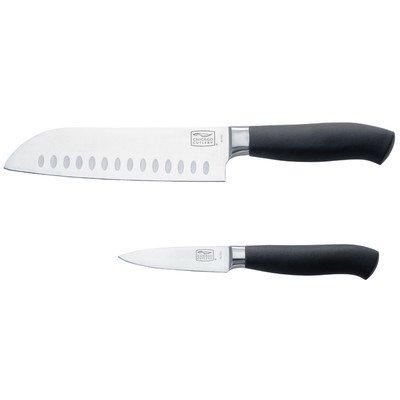 Chicago Cutlery Kinzie 2-Piece Santoku/Parer Knife With Sheath Protector