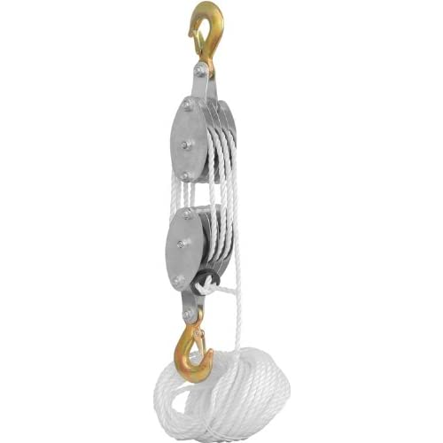Examples Of Block And Tackle Pulleys : Rope pulley block and tackle hoist