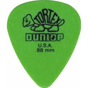 DUNLOP PLEKTRUM TORTEX 0,88 mm GRÜN Picture