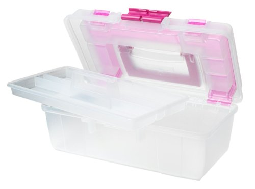 Creative Options 114-082 Molded Storage Craft Box with Lift-Out Tray, 13-inch (Art Supply Box compare prices)