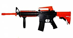 Airsoft AEG BB Rifle M83A2 M4 Full & Semi-Auto 2 Tone UK Legal With Accessory Pack, Battery, Charger & More by DE