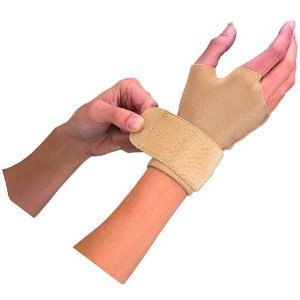 "Mueller Compression / Arthritis / Carpal Tunnel Gloves, 2 gloves/pack, Medium 7.5-8.5"" - Beige"