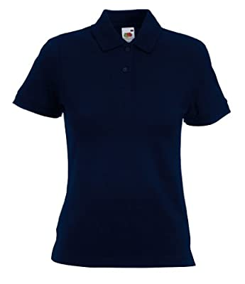 Fruit of the Loom Women's Short SleevePolo Shirt blue deep navy Size:XL