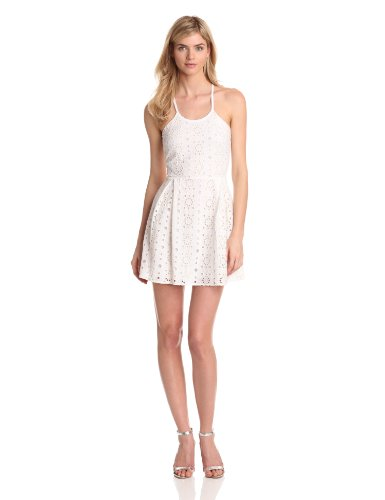 Madison Marcus Women's Fore Woven Lace Dress, White, Small