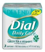 Dial Daily Care Antibacterial Bar Soap Green Tea & Vitamin E (Pa